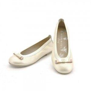 Zapato tipo bailarina niña con lacito triple Hispanitas Iris