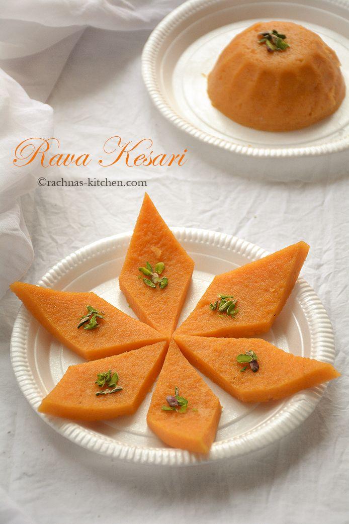 Rava Kesari in Telugu, Sooji Halwa in the North, Sojji and Rava Kesari in Tamil. The classical ingredients used for its preparation are semolina, sugar.