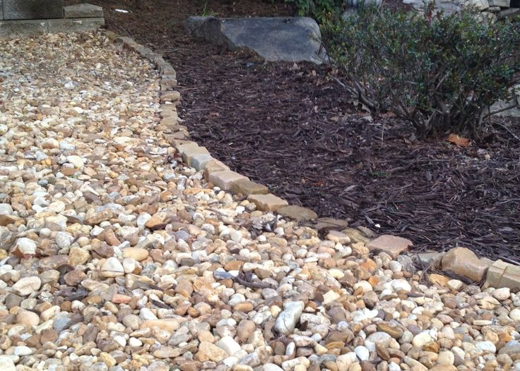 transition river pebbles