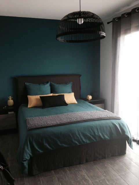bleu canard chambres pinterest. Black Bedroom Furniture Sets. Home Design Ideas