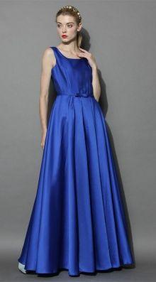 POSHme - Chicwish společenské šaty Glamorous, safírově modré