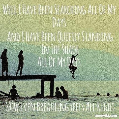 """Lyric Art for """"All My Days"""" by Alexi Murdoch:)"""