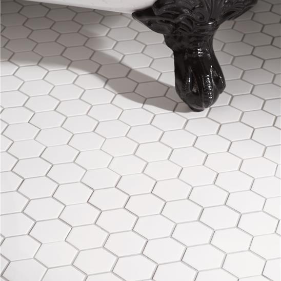 White Large Honeycomb Mosaic