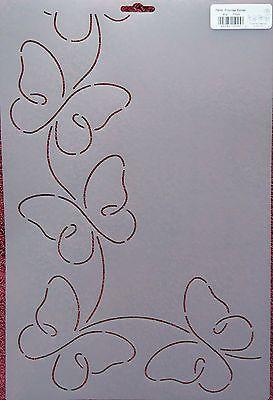 """Stencil Quilting Promissórias Border 4 1/4"""" 11cm RB45 Butterflies Butterfly quilt QC"""