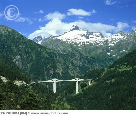 Simplon Pass through the Alps between Italy and Switzerland.  Gorgeous scenery