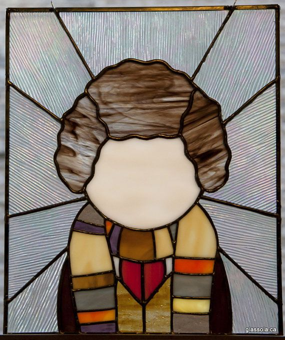 The Fourth Doctor  stained glass panel by glassola on Etsy