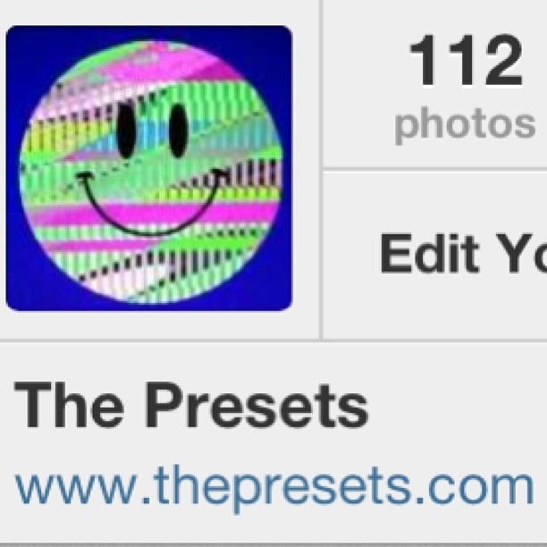 our new Instagram name is @thepresets , no more 'real'. thanks Jay Knicks @jessnicholls