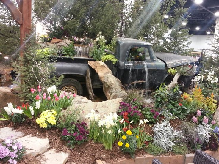 Truck Waterfall Flowers Of Paradise Ponds Backyard
