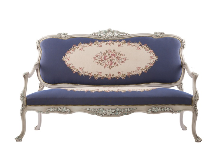 How do you like our Blue Victoria sofa? :) #lovely #French #sofa