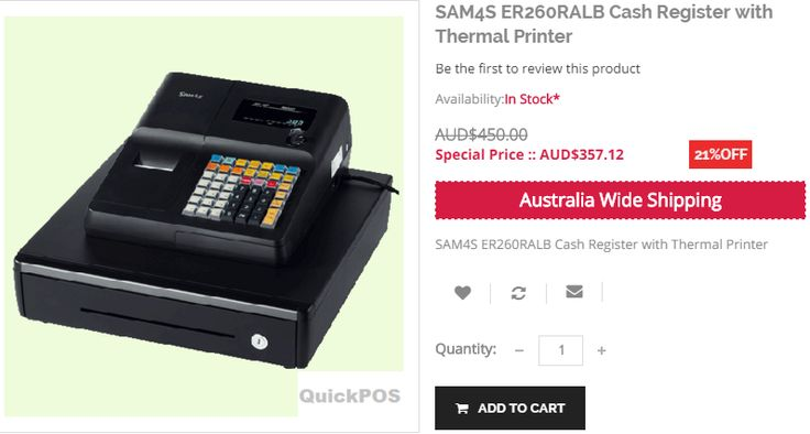 Discover the latest Special Offers and Get 21% off on  SAM4S ER260RALB Cash Register with Thermal Printer https://www.quickpos.com.au/s…/cash-register-sam4s-er260ralb #cashregister #BuyCashRegisters #BestCashRegisters #CashRegistersAustralia