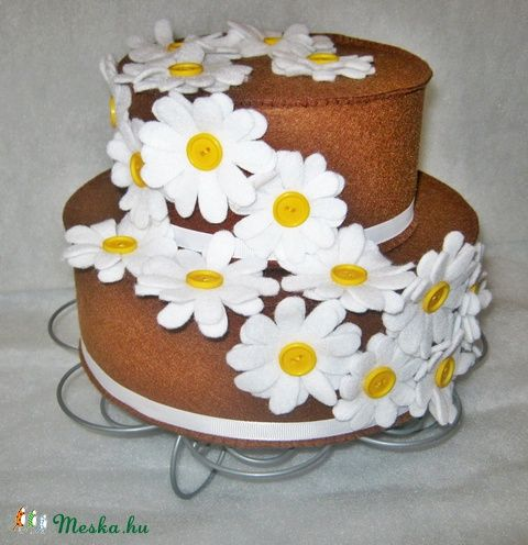 Margaréta torta filcből (Filckucko) - Meska.hu