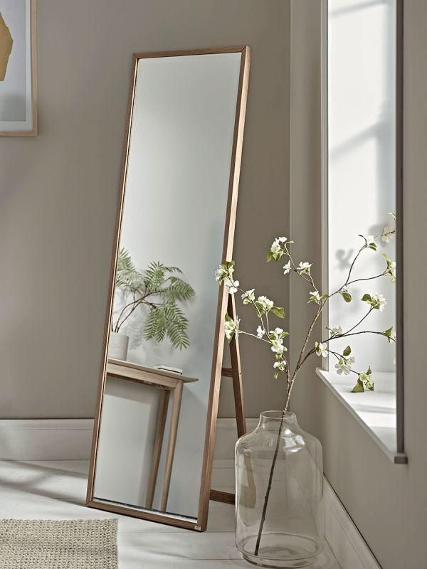 Oak Full Length Standing Mirror New Oak Full Length Standing Mirror Mirror Full Length Standing In 2020 Standing Mirror Mirror Designs Mirror Design Wall
