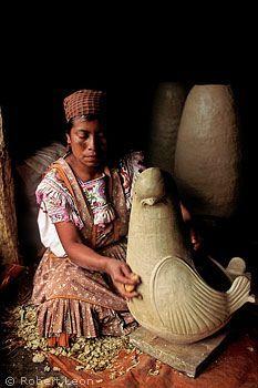 Tzeltal Maya woman making pottery, Amatenango del Valle, Chiapas, Mexico by Shkaa'la, via Flickr