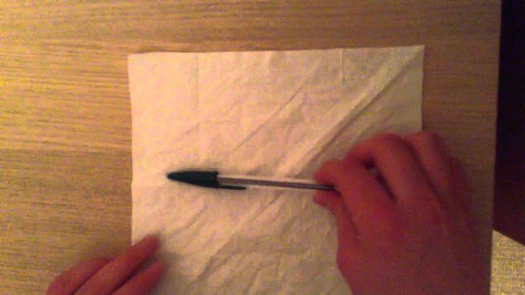 Tour de magie - le crayon et la serviette