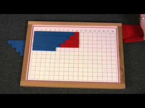Montessori Math Lesson - Addition Strip Board - YouTube