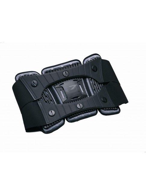 MTECH SUPPORT BELT protezioni da moto.  Cintura brevettata per supporto schiena con imbottitura termoformata ed elementi verticali snodati di sostegno in polipropilene che seguono i movimenti del corpo