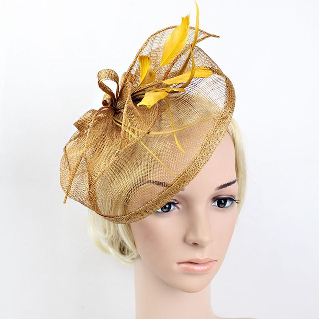 Check it on our site Handmade Golden Silver Blue Sinamay Headband Feather Fascinator Horse Racing Tea Party Wedding Hairband Hair Accessories 2016 just only $16.19 with free shipping worldwide  #babygirlsclothing Plese click on picture to see our special price for you