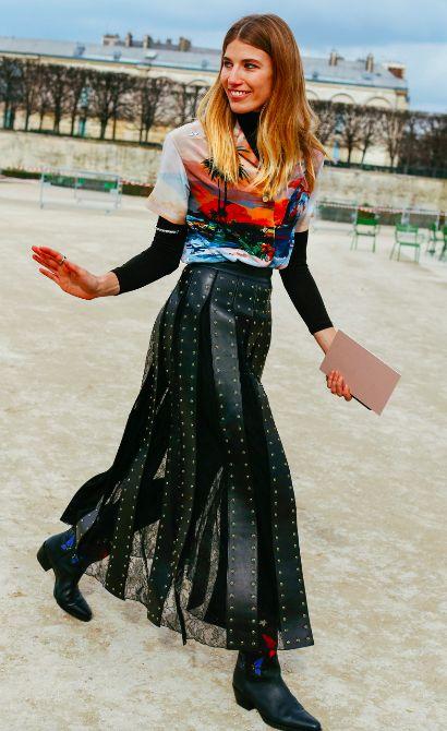 Valentino Street Style, Veronika Heilbrunner at fashion week.
