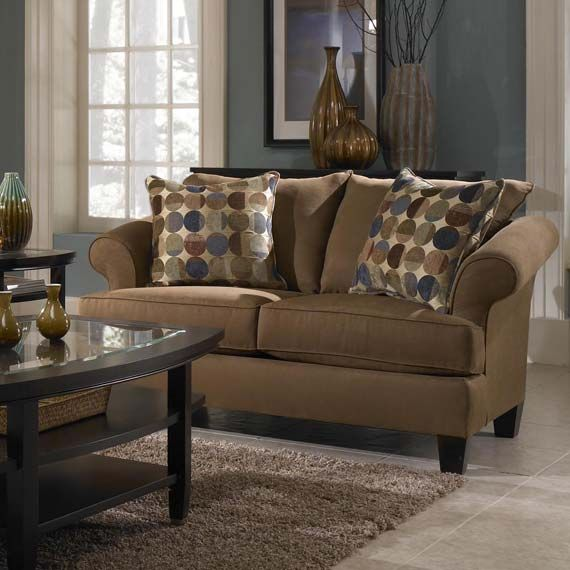 tan couches decorating ideas | Warm Tan Couch Color for Inviting Living Room Decoration Idea | Cimots
