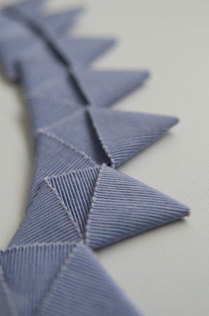 Ribbon Folding fabric manipulation technique - fabric origami; inspiration for decorative trims or textured surface pattern design // Ruth Singer