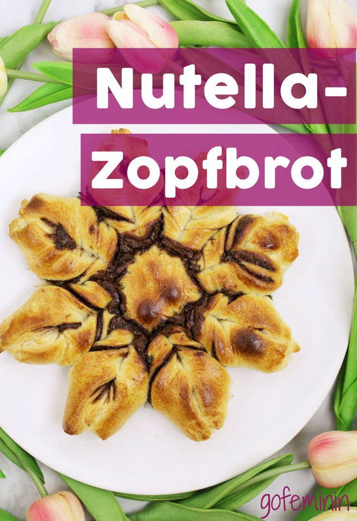 Rezept für Nutella-Zopfbrot: So einfach und schnell zaubert ihr das süße Gebäck mit NUR 3 Zutaten! #nutellazopfbrot #nutellastern #nutellakranz #backen #rezept #rezeptemitnutella