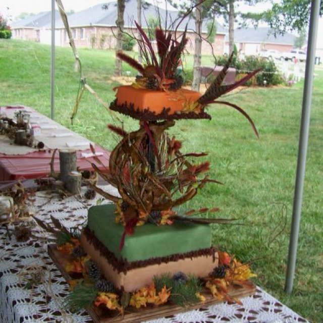 My Deer Antler Wedding Cake Made By Beefcake Bakery Sept