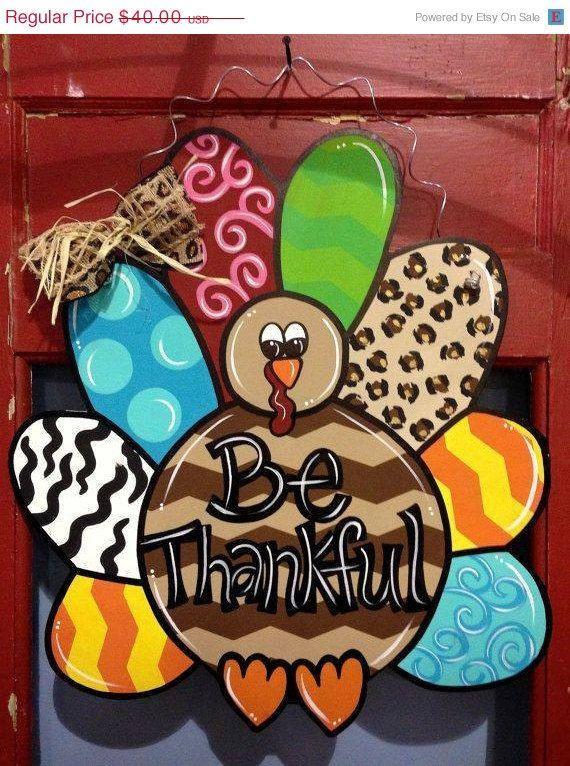 Captivating 25 OFF SALE Turkey Door Hanger Thanksgiving By TallahatchieDesigns, $30.00