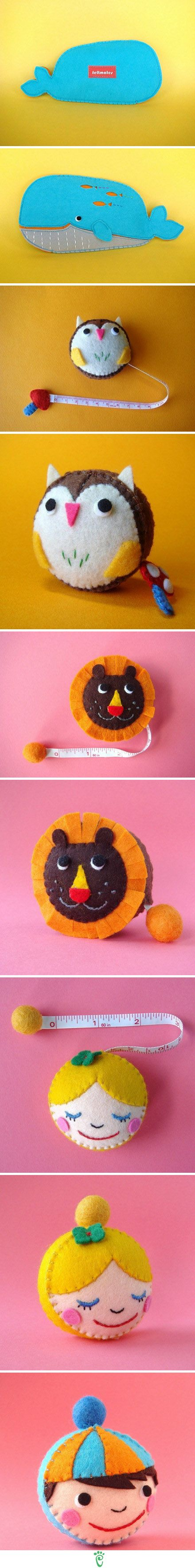 I didn't even know I needed this till now...#Felt measuring tape cover #DIY