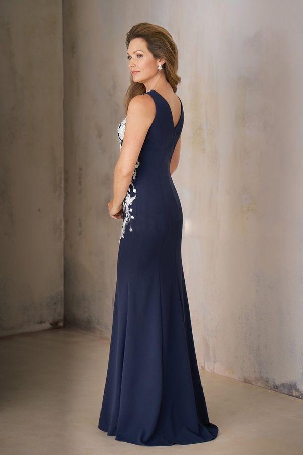 83c5cc5045bc Dark Blue &White Long Mother of the Bride Dresses Sleeveless Mermaid With  Shawl#White#Long#amp