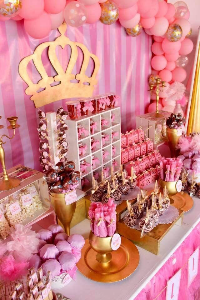 Princess Candy Bar Mesas De Dulces Princesas Ideas Mesas De Dulces Mesa De Dulces