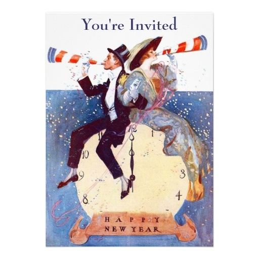 New Year's Eve Party Invitation | Zazzle.com | Vintage ...