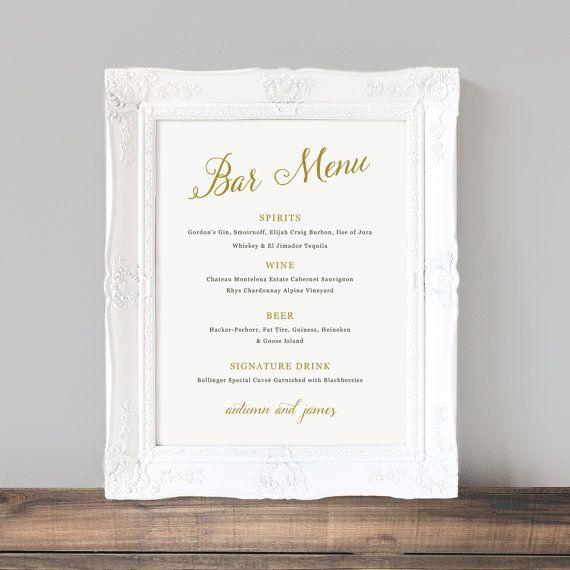 Best 25+ Wedding bar menu ideas on Pinterest Wedding drink menu - drinks menu template
