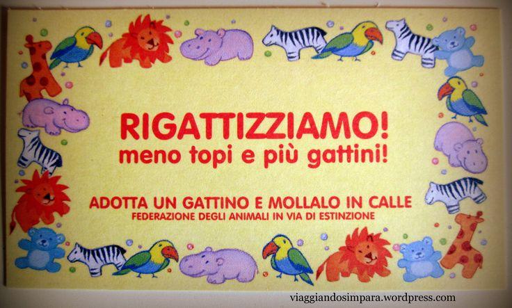 Rigattizziamo Venezia! ...un bigliettino davvero divertente :)