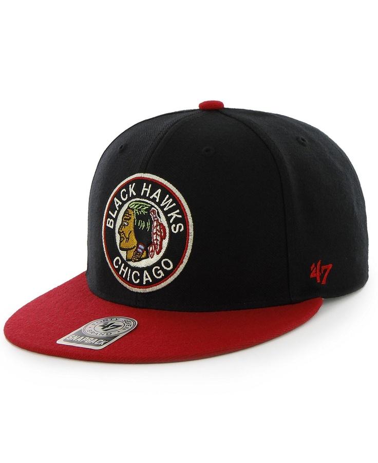 47 Brand NHL Hockey Hat, Chicago Blackhawks Big Shot Snapback Hat