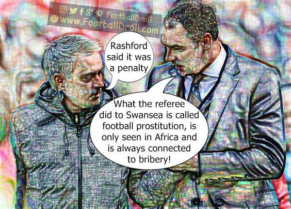José Mourinho Insists United Deserved the Penalty Against Swansea #Mourinho #Clement #ManUnited #Swansea #Chelsea #EPL #MUNSWA #Pogba #Ibrahimovic #Mkhitaryan #ManCity #Arsenal #Liverpool #Neymar #Messi #Ronaldo #FCBarcelona #Jokes #Comic #Laughter #Laugh #Football #FootballDroll #Funny #CR7 #RealMadrid