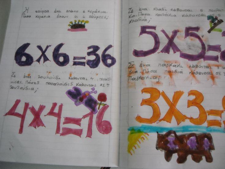 Μαθαίνω τα διπλά γινόμενα-Μαθηματικά Β΄τάξη