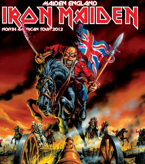 """MAIDEN ON THE CHARGE    Published: Feb 15, 2012    IRON MAIDEN ANNOUNCE """"MAIDEN ENGLAND WORLD TOUR"""" WITH EXTENSIVE DATES IN NORTH AMERICA THIS SUMMER"""