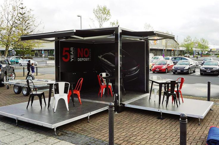Nothing could be cooler than having a mobile Pop Up Dealership for Honda to tow to their events around the country. Two sides can fold down and become extended flooring where tables and chairs can be placed for dealers and their customers.  Limited space, unlimited engagement.  - See more at: http://www.degroup.co.nz/portfolio/index.html#sthash.6ZHXnpeY.dpuf