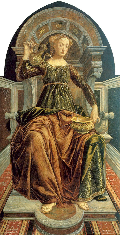 ❤ - Sandro Botticelli ( 1445 - 1510) and Piero del Pollaiuolo (1443 – 1496) -  Temperance - Galleria degli Uffizi, Florence