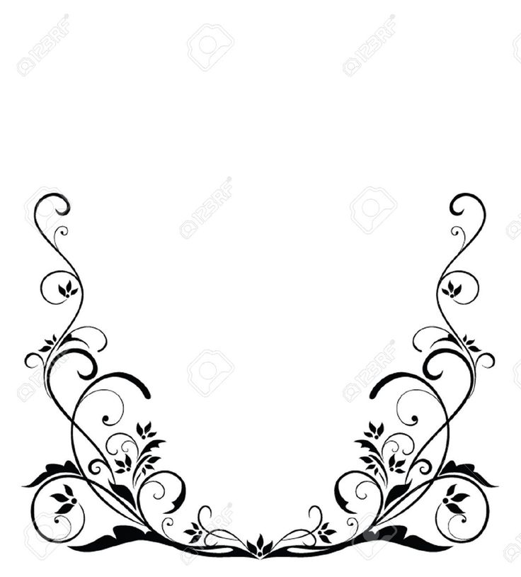 Wedding Border Black And White