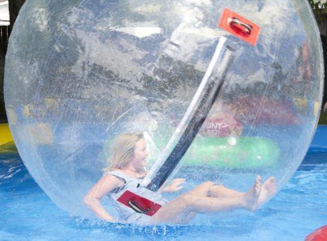 Girl in a plastic bubble