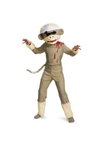 Cool Funny Costumes - Kids Zombie Sock Monkey Costume just added...