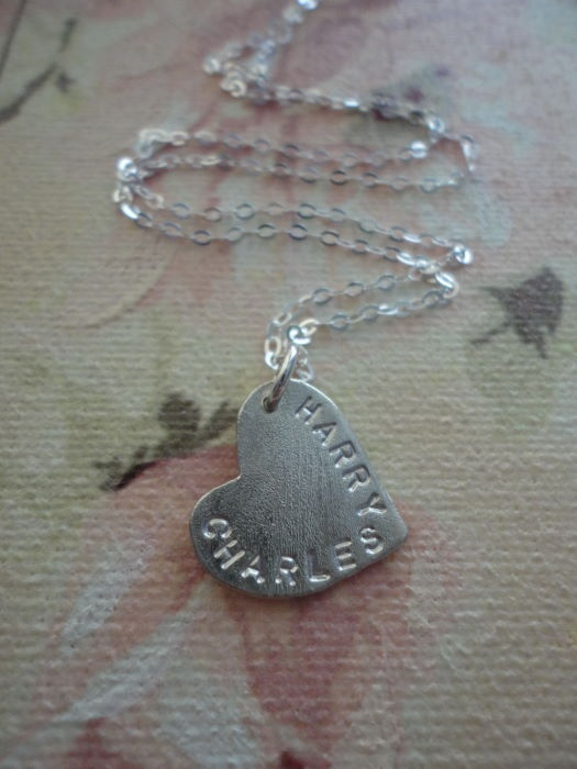 Personalise this gorgeous necklace with bride & groom names! www.Fourbeautifulkeys.co.uk