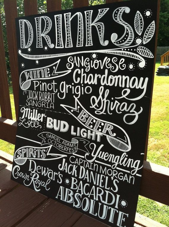 Menu sur tableau Inspiration mariage : un menu original