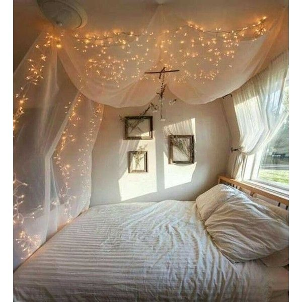 20 Magical DIY Bed Canopy Ideas Will Make You Sleep Romantic ❤ liked on Polyvore featuring home, bed & bath, bedding, canopy bedding, romantic bedding and canopy bed linens