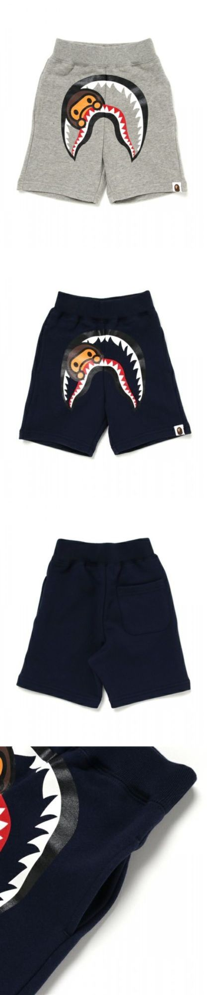 Shorts 175655: A Bathing Ape Milo Shark Shorts Bape Kids Graphic Cotton Short Pants From Japan -> BUY IT NOW ONLY: $129 on eBay!