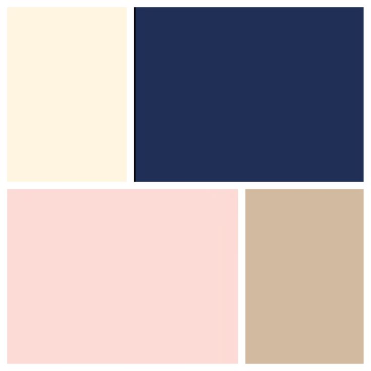 Brent & I's wedding colors Navy, blush, champagne and white