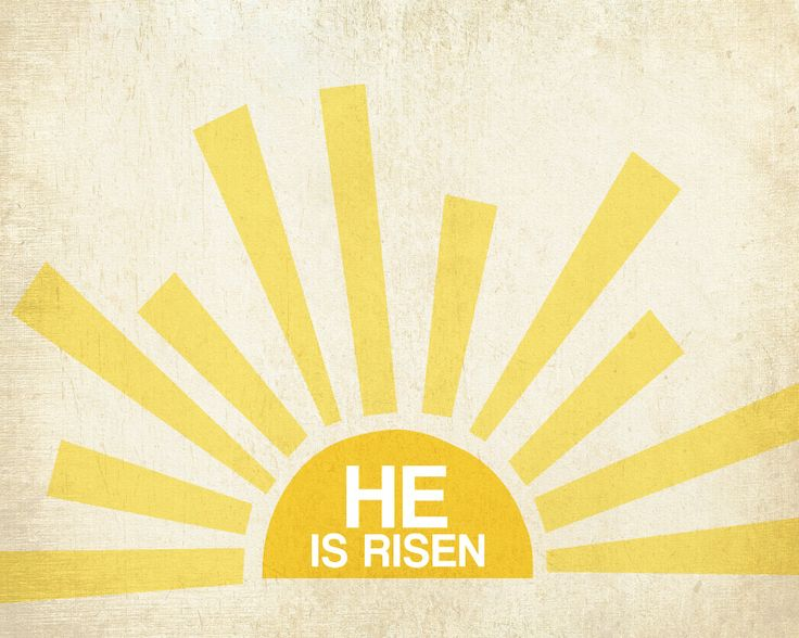 He is Risen printable for Easter (Try as craft, canvas, use tape & vinyl letter, paint over.) heidi stock   design and stuff: freebie