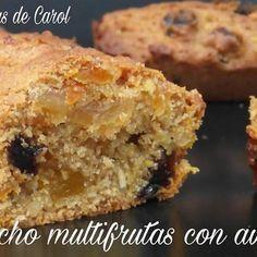 #Receta #bizcocho multifrutas con avellanas #recipes @isasaweis Elaborado con harina i#ntegral, Azúcar Moreno, zanahoria, manzana, orejones, pasas y avellanas.