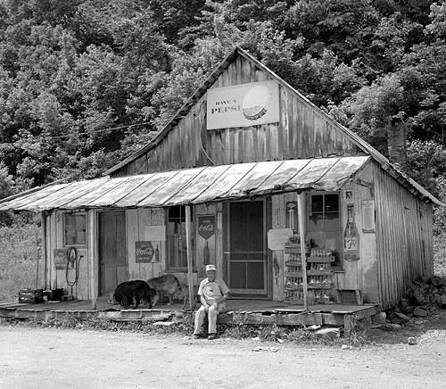 An old general store in Kentucky...Stores often looked like this.  Penn's Store in Gravel Switch.